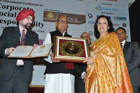 >Max India Foundation was awarded the Golden Peacock Award for CSR 2013.