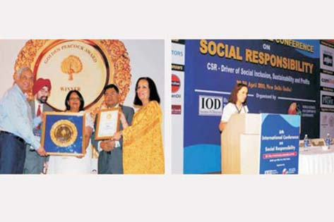 """Max India Foundation won the prestigious ""Golden Peacock