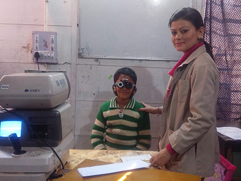 Eye check camp at conducted