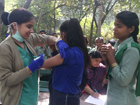 Typhoid Vaccination Camp