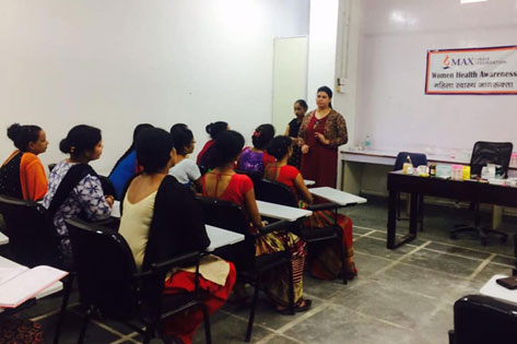 Self detection of Breast Cancer Session at an NGO run Women Centre