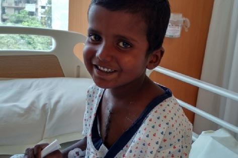 Abu, 4 yr old from Bihar treated for heart anomaly