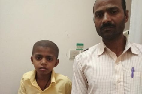 Irfan 9yr old from Bihar operated for a tumour in the leg