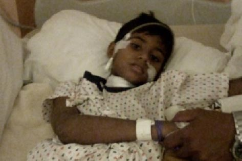 Anvesha 7 yr old from Delhi treated for Wilm's Tumour